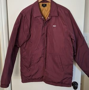 Obey insulated coach's jacket size L